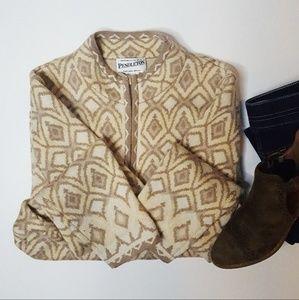 Pendleton Merino Wool Southwest Zip Cardi